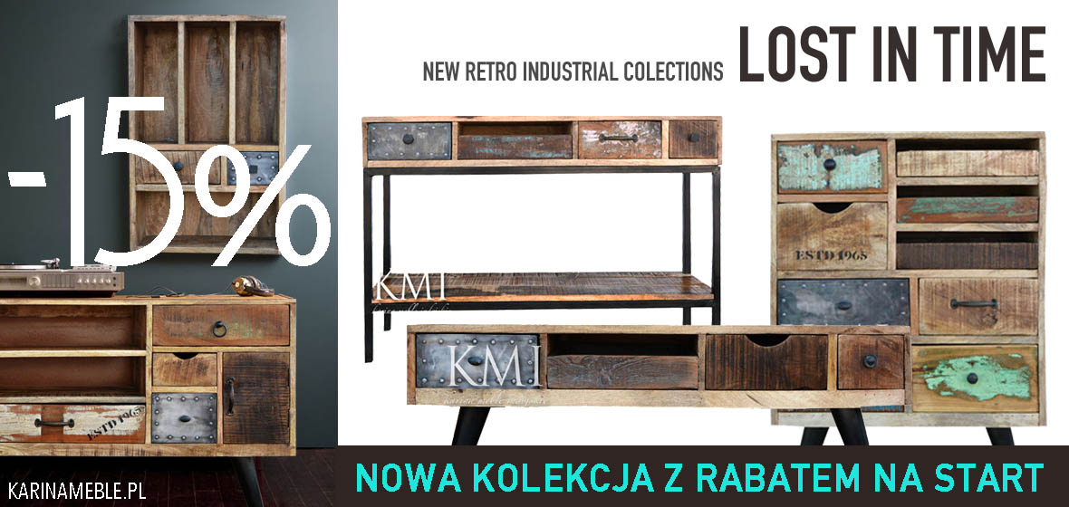 meble loftowe, industrialne | karinameble.pl